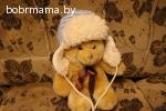 Шапочка зимняя на овчине для мальчика с рождения до 1,5 лет