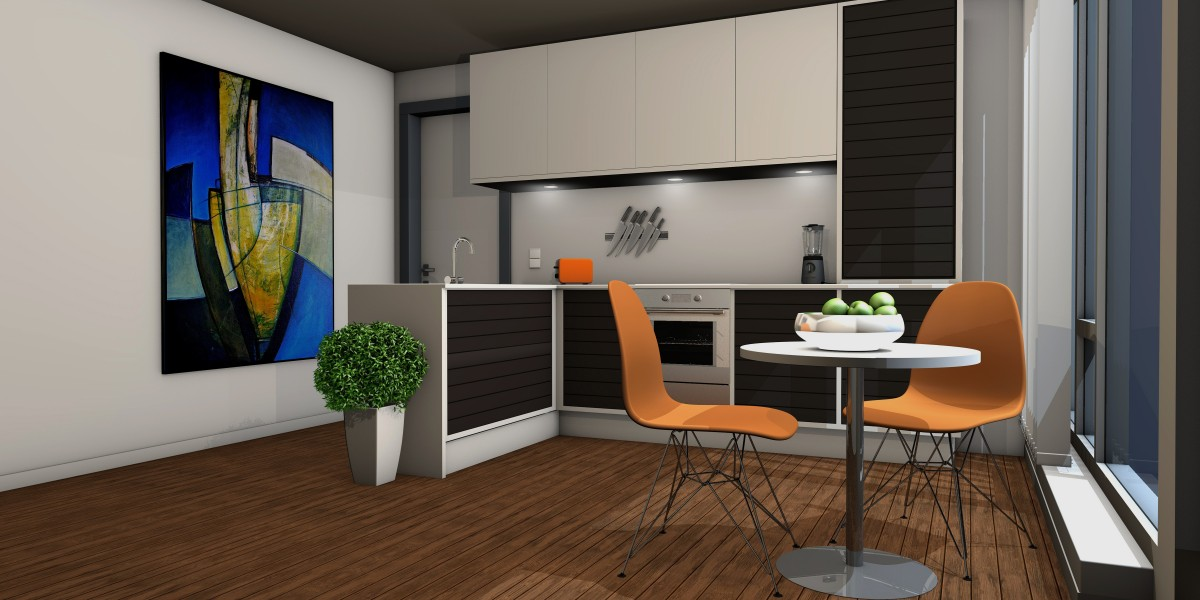 kitchen lichtraum gallery living room apartment graphic computer graphics rendering 491365